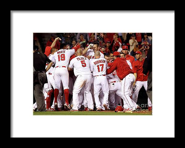 Ninth Inning Framed Print featuring the photograph Albert Pujols by Sean M. Haffey