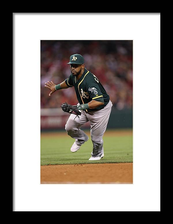 American League Baseball Framed Print featuring the photograph Alberto Callaspo by Paul Spinelli
