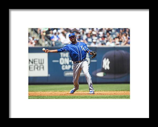 American League Baseball Framed Print featuring the photograph Alcides Escobar by Anthony Causi