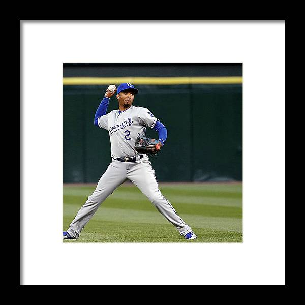 Second Inning Framed Print featuring the photograph Alcides Escobar by Jon Durr