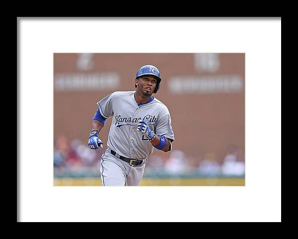 Three Quarter Length Framed Print featuring the photograph Alcides Escobar by Leon Halip