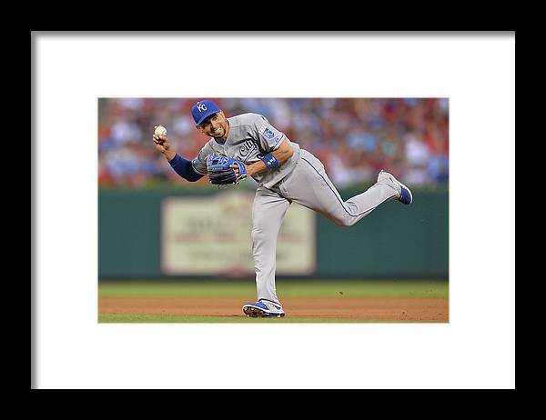 People Framed Print featuring the photograph Alcides Escobar by Michael Thomas