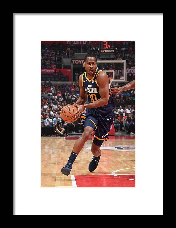 Nba Pro Basketball Framed Print featuring the photograph Alec Burks by Andrew D. Bernstein