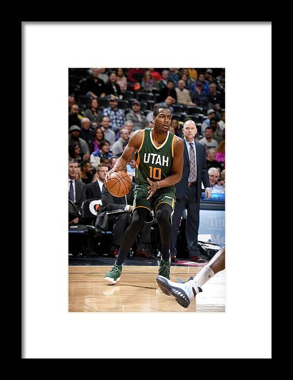 Nba Pro Basketball Framed Print featuring the photograph Alec Burks by Garrett Ellwood