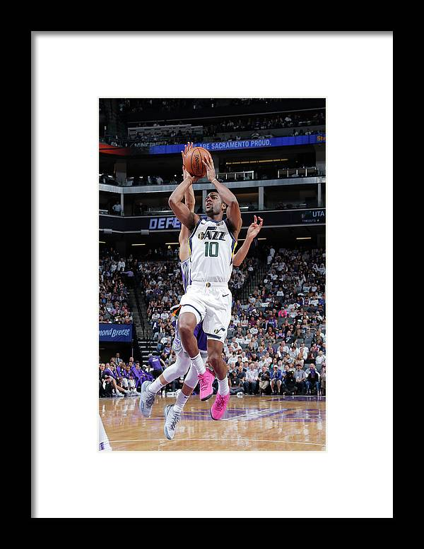 Nba Pro Basketball Framed Print featuring the photograph Alec Burks by Rocky Widner