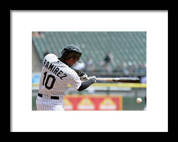 Second Inning Framed Print featuring the photograph Alejandro De Aza and Alexei Ramirez by Brian Kersey