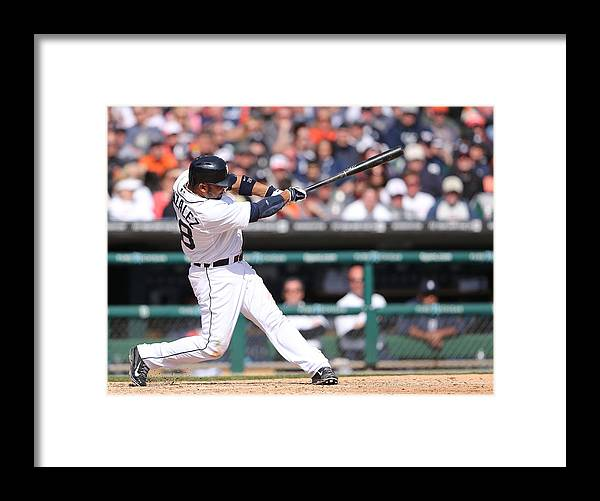 American League Baseball Framed Print featuring the photograph Alex Avila by Leon Halip