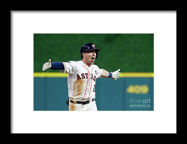 Alex Bregman Framed Print featuring the photograph Alex Bregman by Jamie Squire