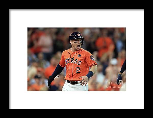 Alex Bregman Framed Print featuring the photograph Alex Bregman by Ronald Martinez