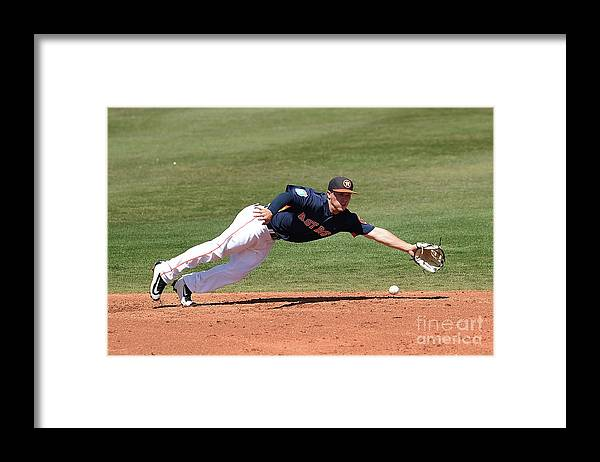 Alex Bregman Framed Print featuring the photograph Alex Bregman by Stacy Revere