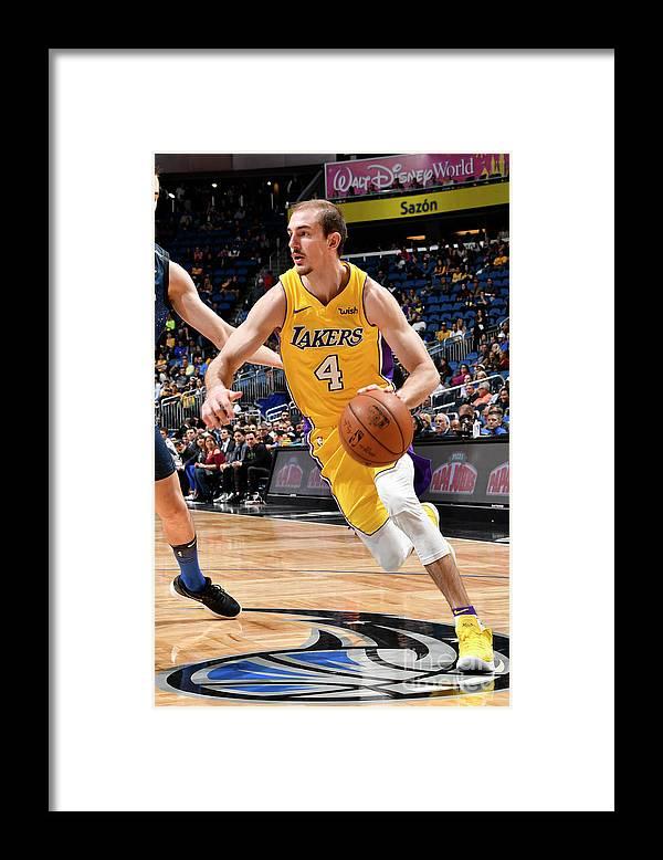 Nba Pro Basketball Framed Print featuring the photograph Alex Caruso by Fernando Medina