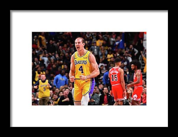 Nba Pro Basketball Framed Print featuring the photograph Alex Caruso by Jesse D. Garrabrant