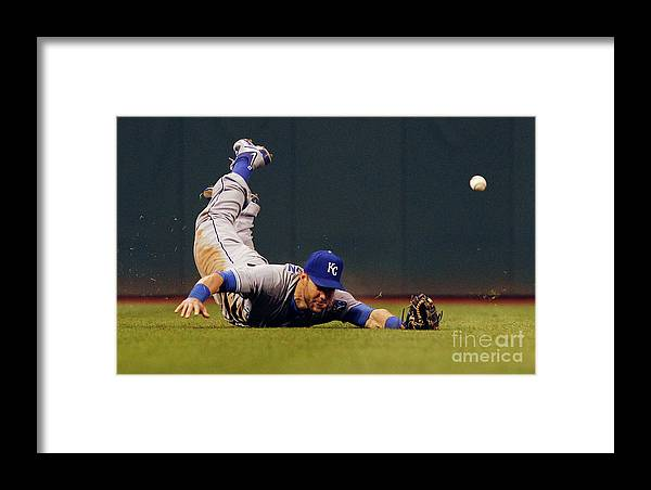 People Framed Print featuring the photograph Alex Gordon And Jason Kipnis by David Maxwell