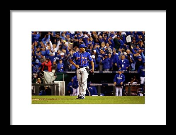 Ninth Inning Framed Print featuring the photograph Alex Gordon and Jeurys Familia by Sean M. Haffey
