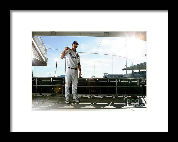 Media Day Framed Print featuring the photograph Alex Gordon by Jonathan Ferrey