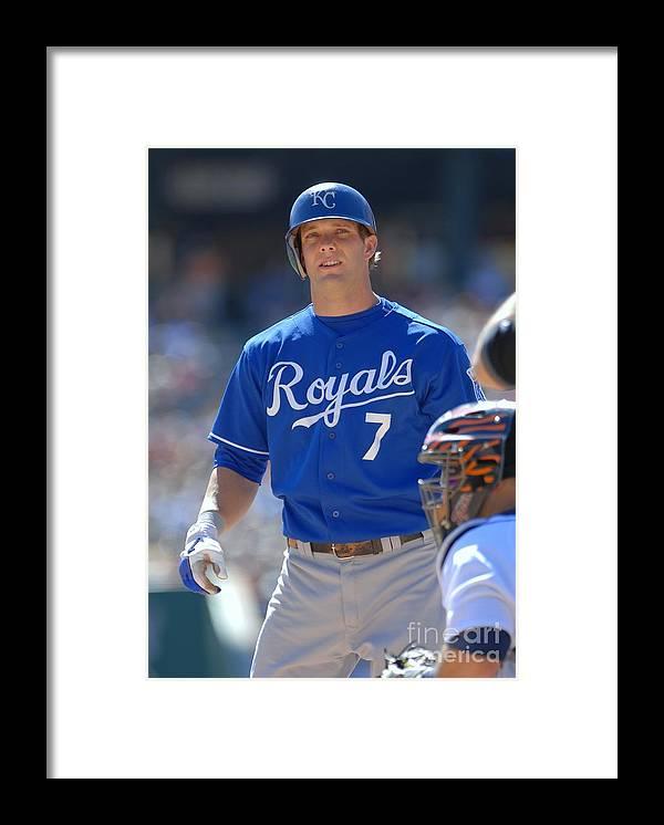 American League Baseball Framed Print featuring the photograph Alex Gordon by Mark Cunningham