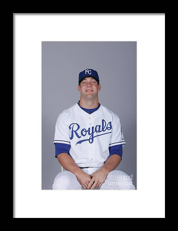 Media Day Framed Print featuring the photograph Alex Gordon by Rick Scuteri