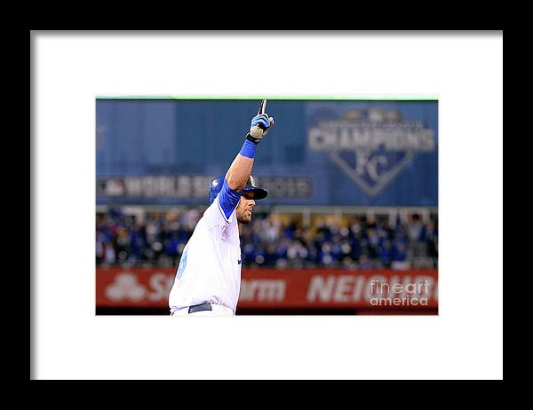Playoffs Framed Print featuring the photograph Alex Gordon by Ron Vesely