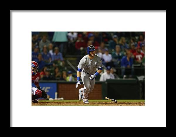 American League Baseball Framed Print featuring the photograph Alex Gordon by Ronald Martinez