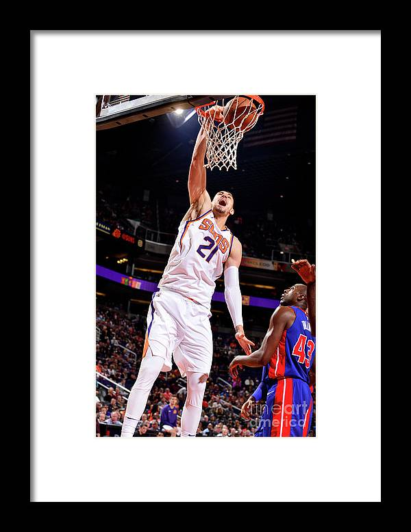 Sports Ball Framed Print featuring the photograph Alex Len by Barry Gossage