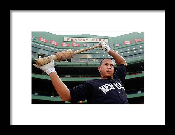People Framed Print featuring the photograph Alex Rodriguez by Adam Glanzman