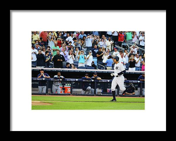 People Framed Print featuring the photograph Alex Rodriguez by Al Bello