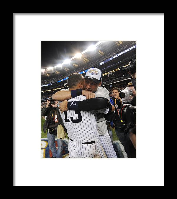 American League Baseball Framed Print featuring the photograph Alex Rodriguez and Derek Jeter by New York Daily News Archive