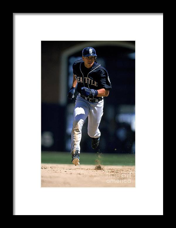 People Framed Print featuring the photograph Alex Rodriguez by Brad Mangin