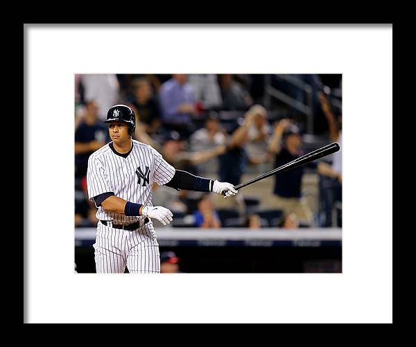 Three Quarter Length Framed Print featuring the photograph Alex Rodriguez by Elsa