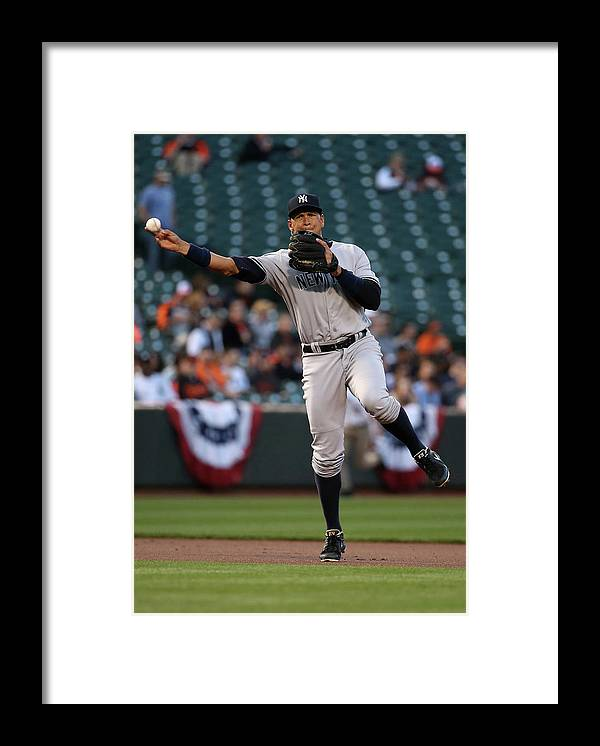 People Framed Print featuring the photograph Alex Rodriguez by Rob Carr