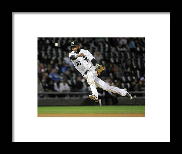 American League Baseball Framed Print featuring the photograph Alexei Ramirez and Ben Zobrist by David Banks