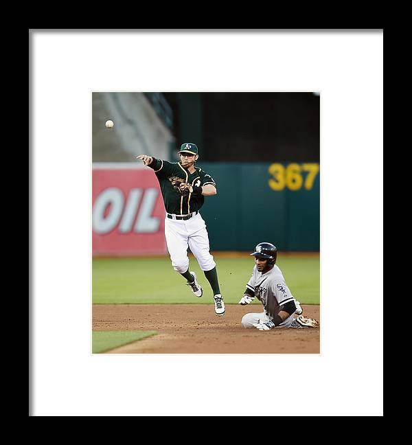Double Play Framed Print featuring the photograph Alexei Ramirez and Eric Sogard by Thearon W. Henderson