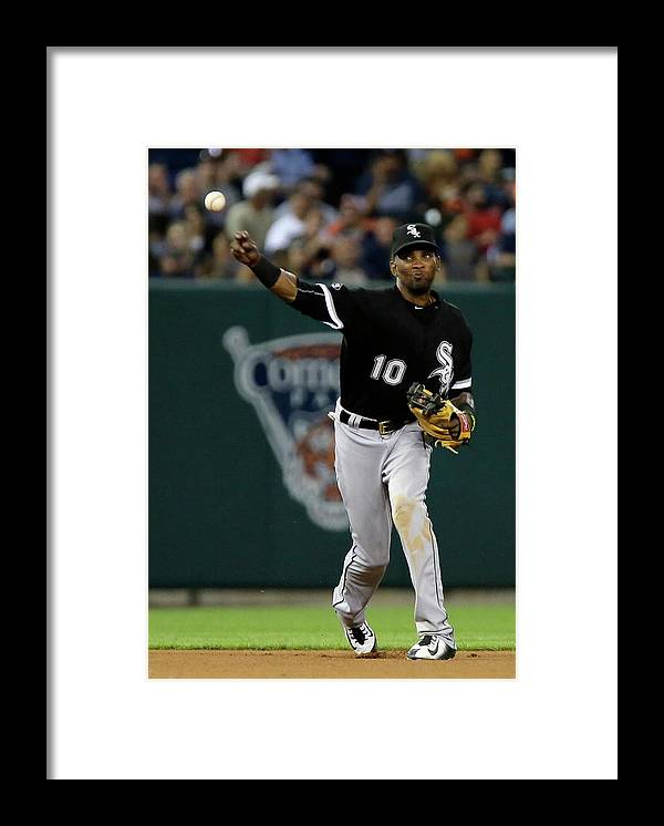 People Framed Print featuring the photograph Alexei Ramirez and Ian Kinsler by Duane Burleson