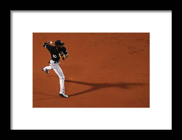 Second Inning Framed Print featuring the photograph Alexei Ramirez and Rusney Castillo by Maddie Meyer