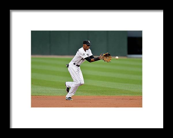 Second Inning Framed Print featuring the photograph Alexei Ramirez by Brian Kersey