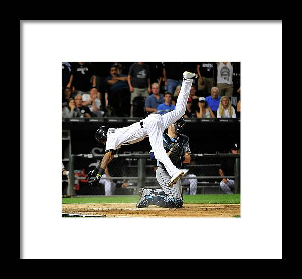 Ninth Inning Framed Print featuring the photograph Alexei Ramirez by David Banks