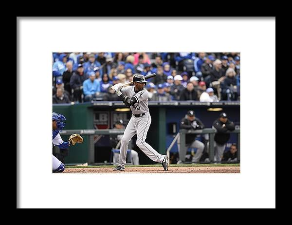 American League Baseball Framed Print featuring the photograph Alexei Ramirez by John Williamson