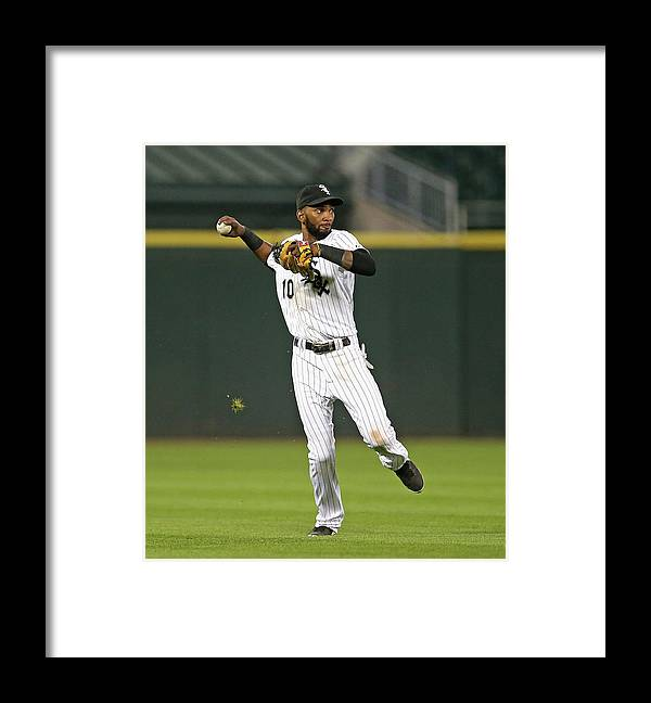 Double Play Framed Print featuring the photograph Alexei Ramirez by Jonathan Daniel