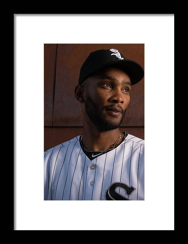 Media Day Framed Print featuring the photograph Alexei Ramirez by Rob Tringali