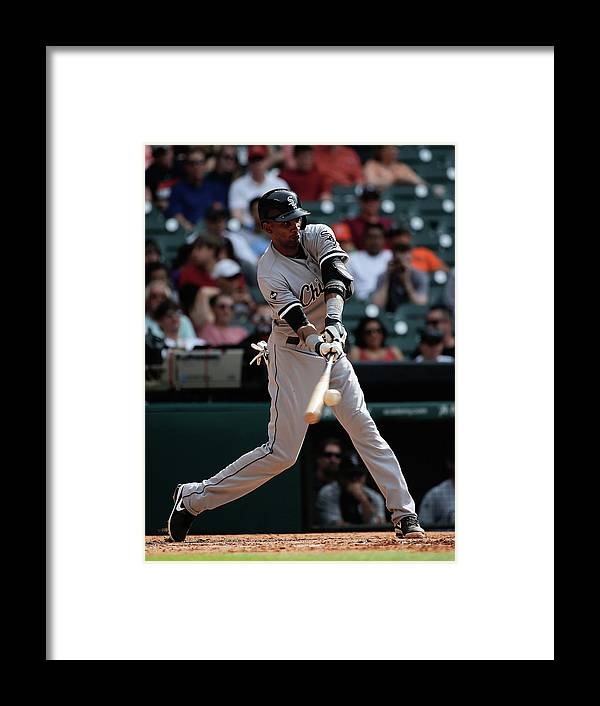 American League Baseball Framed Print featuring the photograph Alexei Ramirez by Scott Halleran