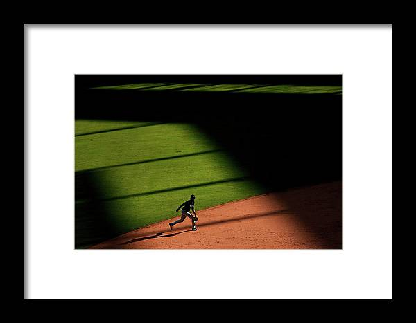 American League Baseball Framed Print featuring the photograph Alexei Ramirez by Tom Pennington
