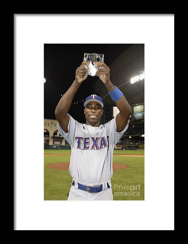 Alfonso Soriano Framed Print featuring the photograph Alfonso Soriano by Rich Pilling