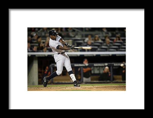 Alfonso Soriano Framed Print featuring the photograph Alfonso Soriano by Rob Tringali