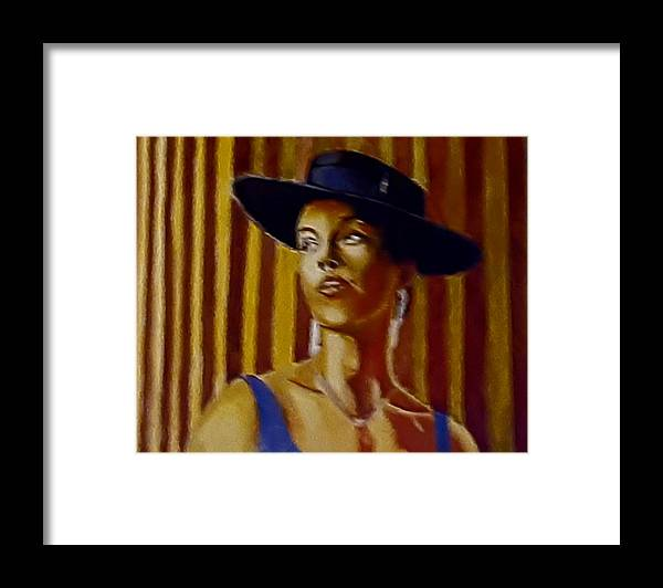 Portrait Framed Print featuring the painting Alica by Andrew Johnson