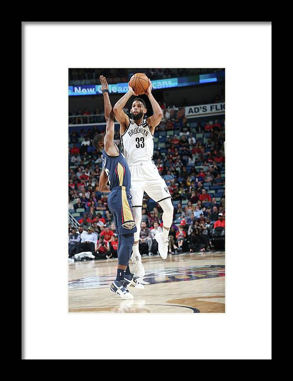 Smoothie King Center Framed Print featuring the photograph Allen Crabbe by Layne Murdoch