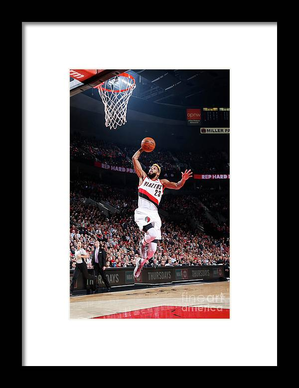 Nba Pro Basketball Framed Print featuring the photograph Allen Crabbe by Sam Forencich