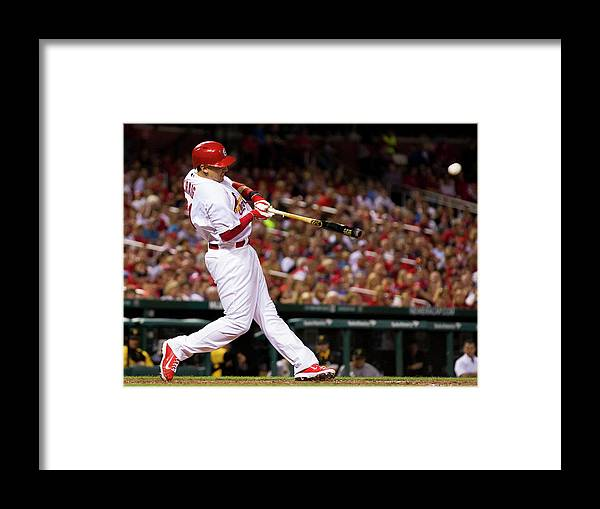 St. Louis Cardinals Framed Print featuring the photograph Allen Craig by David Welker