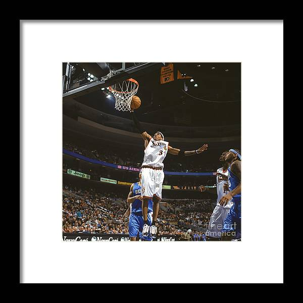 Nba Pro Basketball Framed Print featuring the photograph Allen Iverson by Nathaniel S. Butler