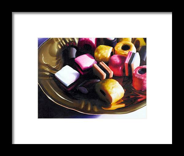 Allsorts Framed Print featuring the pastel Allsorts of Colour by Dianna Ponting