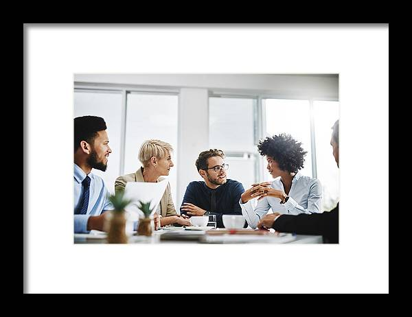 New Business Framed Print featuring the photograph Always brainstorming by PeopleImages